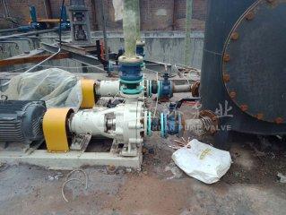 绿环脱硫泵在河北磁县安装调试中